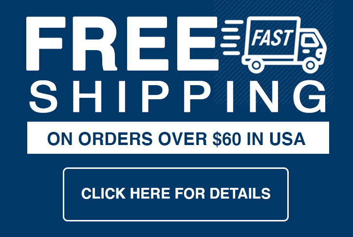 FREE shipping on orders $60 or more